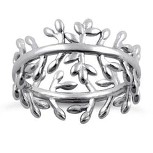 Load image into Gallery viewer, Sterling Silver Branches and Leaves Eternity Ring