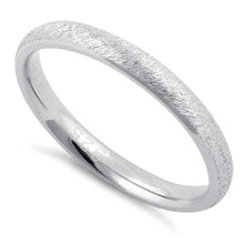 Load image into Gallery viewer, Sterling Silver Brushed Wedding Band Ring 2.5mm