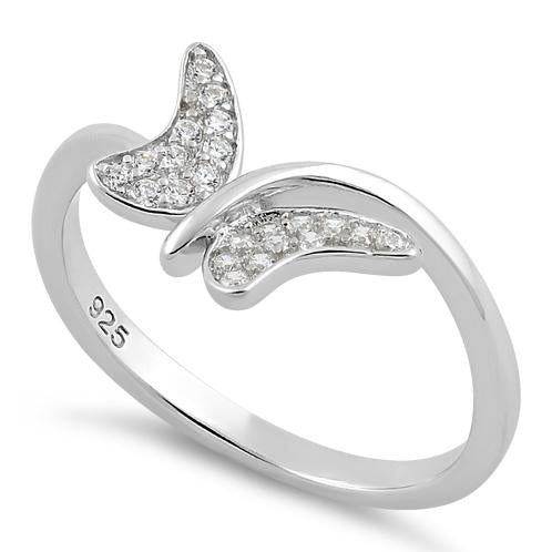 Sterling Silver Buttefly Clear CZ Ring