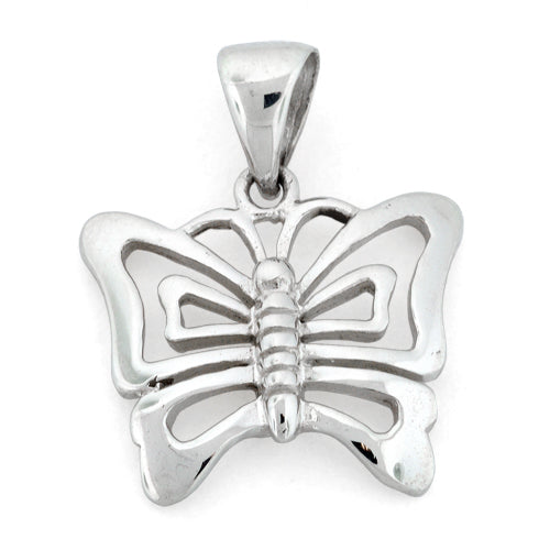 Sterling Silver Butterfly Cut Pendant