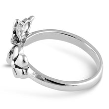 Load image into Gallery viewer, Sterling Silver Butterfly Flower Ring