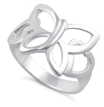 Load image into Gallery viewer, Sterling Silver Butterfly Heart Ring