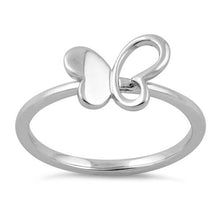 Load image into Gallery viewer, Sterling Silver Butterfly Ring