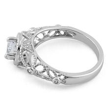Load image into Gallery viewer, Sterling Silver Butterly Design Clear CZ Ring