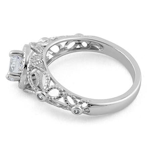 Sterling Silver Butterly Design Clear CZ Ring