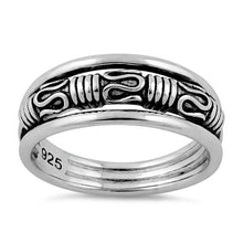Load image into Gallery viewer, Sterling Silver Byzantine Ring