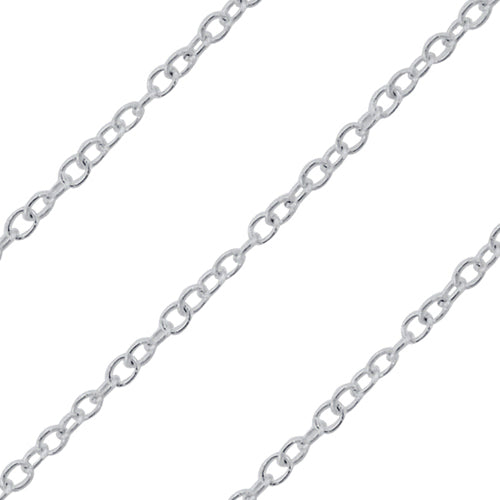 Sterling Silver Cable Chain 1.0mm (sold by the foot)