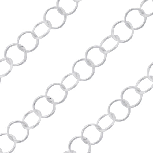 Sterling Silver Cable Chain 3mm (sold by the foot)