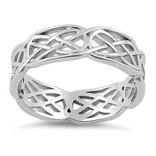 Load image into Gallery viewer, Sterling Silver Carrick Bend Knot Infinity Band