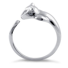Load image into Gallery viewer, Sterling Silver Cat Clear CZ Ring