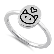 Load image into Gallery viewer, Sterling Silver Cat Love Ring