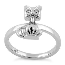 Load image into Gallery viewer, Sterling Silver Cat Ring