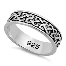 Load image into Gallery viewer, Sterling Silver Celtic Band Ring