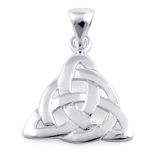 Load image into Gallery viewer, Sterling Silver Celtic Triquetra Charmed Pendant