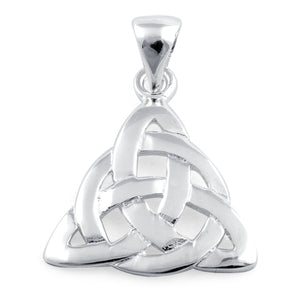 Sterling Silver CelticTriquetra Charmed Pendant