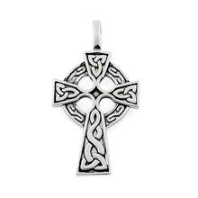 Load image into Gallery viewer, Sterling Silver Celtic Cross Pendant