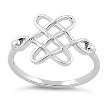Load image into Gallery viewer, Sterling Silver Celtic Knot Ring
