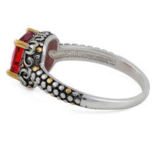 Load image into Gallery viewer, Silver Red CZ Ring