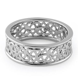 Sterling Silver Celtic Triquetra Eternity Band