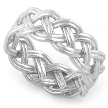 Load image into Gallery viewer, Sterling Silver Celtic Woven Ring