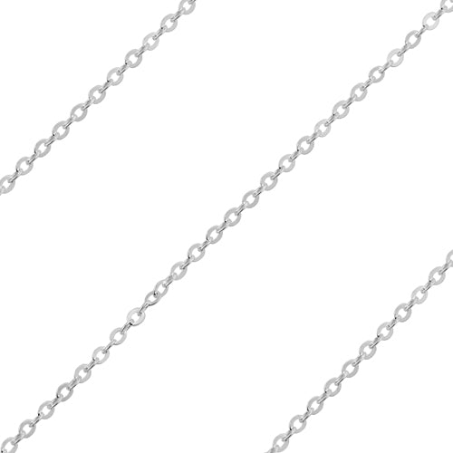 Sterling Silver Chain Brillantata 1mm (sold by the foot)