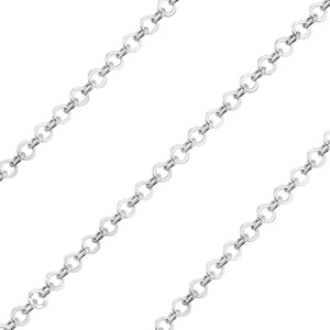 Sterling Silver Chain Brillantata Tonda 2.5mm (sold by the foot)