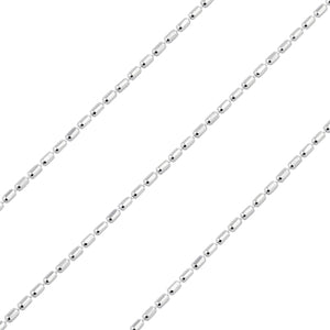 Sterling Silver Chain Cilindro 1mm x 1.5mm (sold by the foot)