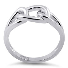 Load image into Gallery viewer, Sterling Silver Chain Knot Ring