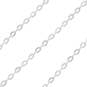 Sterling Silver Chain Metraggio 2.2mm x 4.1mm (sold by the foot)