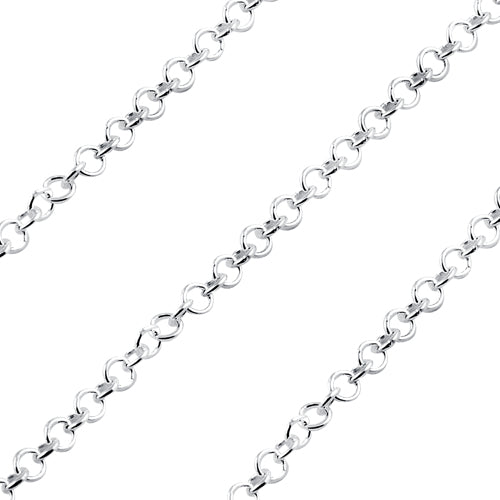 Sterling Silver Chain Round Twisted 2.5mm (sold by the foot)