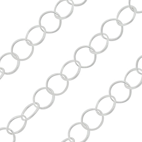 Sterling Silver Chain Round Twisted 3.5mm (sold by the foot)