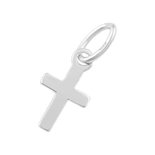 Load image into Gallery viewer, Sterling Silver Charm Cross 5 x 9.5mm - PACK OF 10