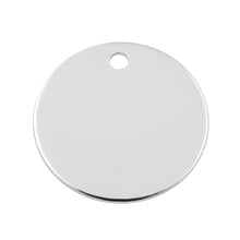 Load image into Gallery viewer, Sterling Silver Charm Round Disc 11mm 24ga. - PACK OF 2