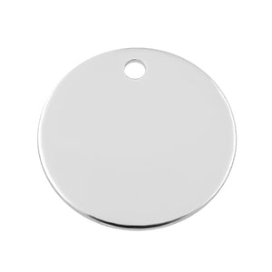 Sterling Silver Charm Round Disc 11mm 24ga. - PACK OF 2