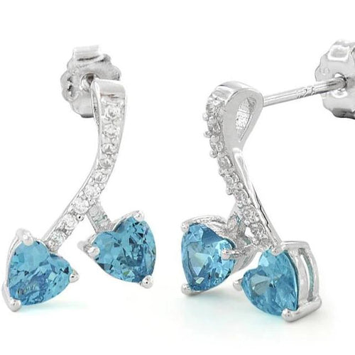 Blue CZ Earrings