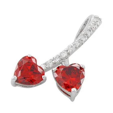 Red CZ Hearts