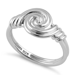 Sterling Silver Circle Swirl Ring