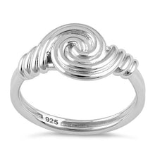 Load image into Gallery viewer, Sterling Silver Circle Swirl Ring