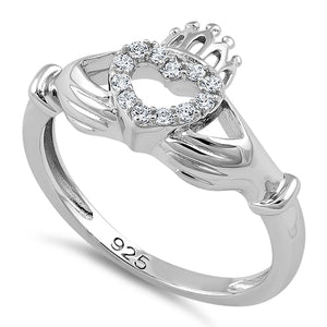 Sterling Silver Claddagh CZ Ring