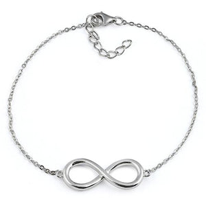 Sterling Silver Classic Infinity Bracelet