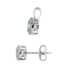 Load image into Gallery viewer, Sterling Silver Clear CZ Set