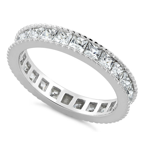 Sterling Silver Clear Eternity Band Ring
