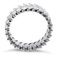 Load image into Gallery viewer, Sterling Silver Eternity Rectangle Clear CZ Ring