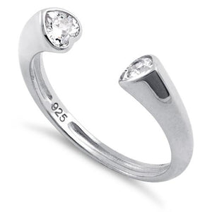 Sterling Silver Clear U Shaped Clear CZ Eternity Ring