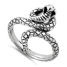 Load image into Gallery viewer, Sterling Silver Cobra Snake Ring