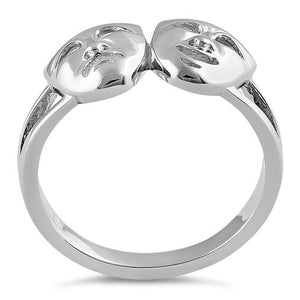 Sterling Silver Comedy & Tragedy Ring