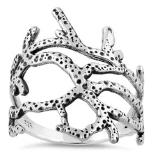 Load image into Gallery viewer, Sterling Silver Coral Reef Ring