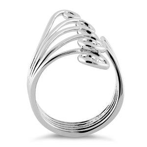 Sterling Silver Crashing Waves Ring