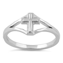 Load image into Gallery viewer, Sterling Silver Cross Ring