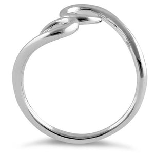 Sterling Silver Curly Hook Ring